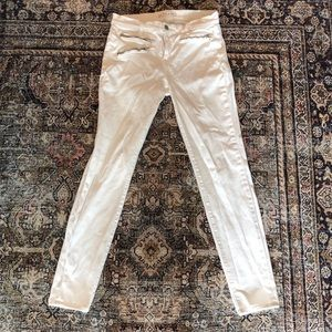J Brand White Denim with Front Zips